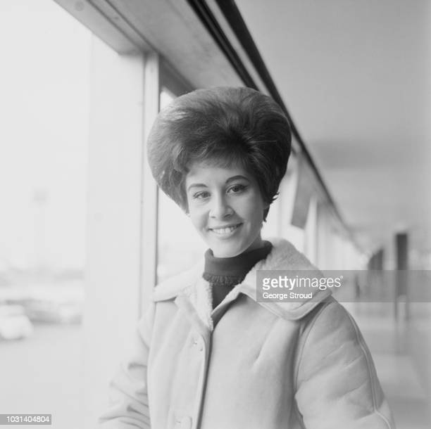 English pop singer Helen Shapiro pictured at London airport on 18th February 1963
