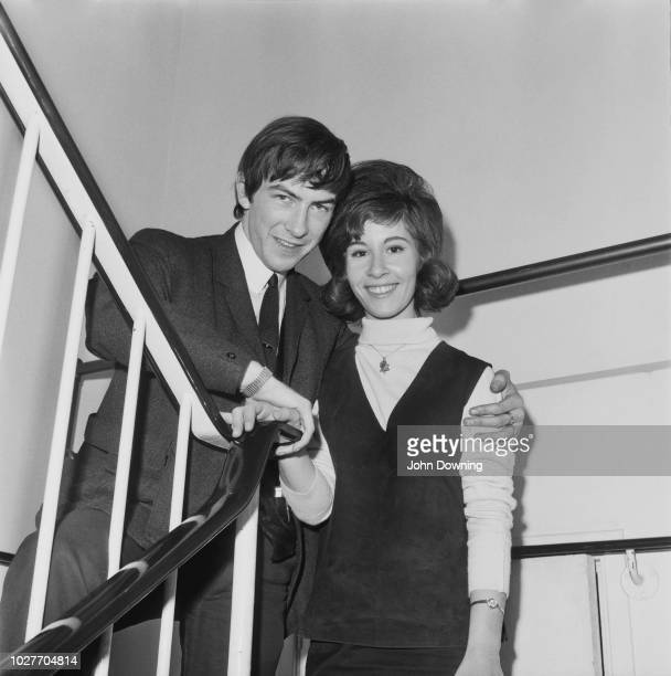 English pop singer jazz singer and actress Helen Shapiro with her fiance Mick UK 2nd June 1964
