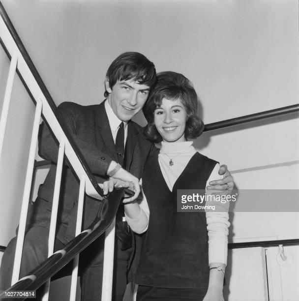 English pop singer jazz singer and actress Helen Shapiro with her fiance Mick UK 2nd June 1964