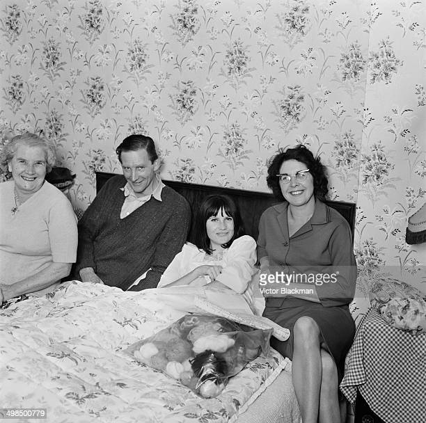 English pop singer Sandie Shaw in bed with bronchitis UK 26th October 1964 In the same week her version of the song ' Always Something There to...