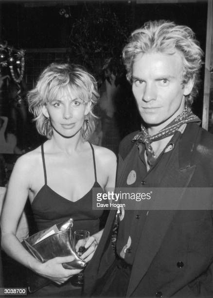 English pop star Sting with his partner Trudie Styler at Stringfellows nightclub in London 4th August 1982 They are attending a charity party in aid...