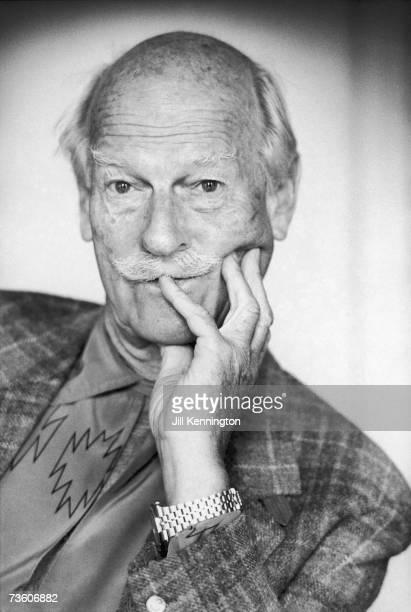 English portrait and fashion photographer Norman Parkinson circa 1985