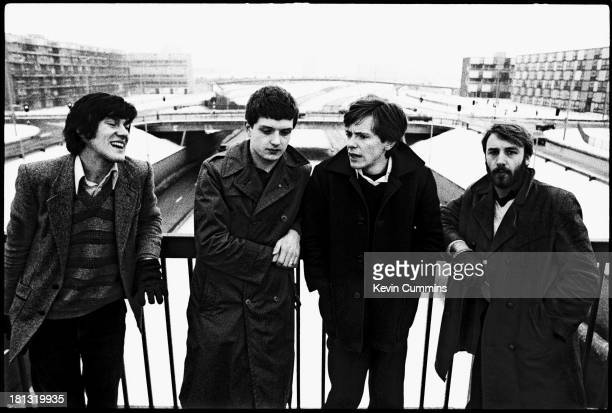 English post punk band Joy Division in Manchester 6th January 1979 Left to right Stephen Morris Ian Curtis Bernard Sumner and Peter Hook