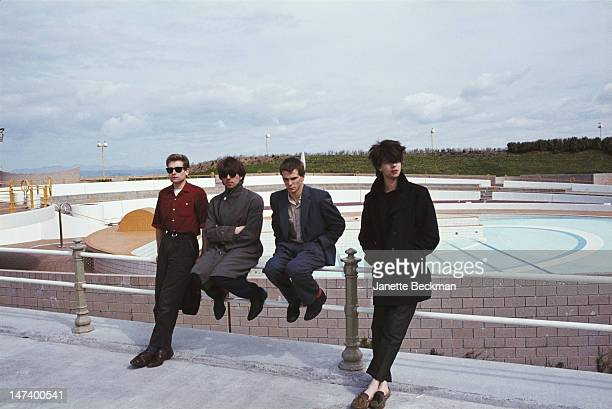 English postpunk band Echo The Bunnymen UK 1981