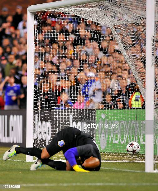 English Premier League football club Everton goalkeeper Tim Howard fails to block a penalty against twotime reigning Italian champions Juventus...