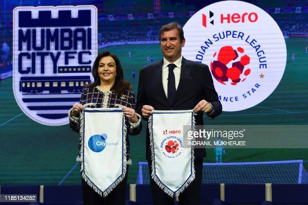 English Premier League football club Manchester City and City Football Group CEO Ferran Soriano and India's Football Sports Development Ltd...