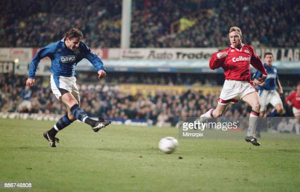 English Premier League match at Goodison Park Everton 4 v Middlesbrough 0 Andrei Kanchelskis of Everton 26th December 1995