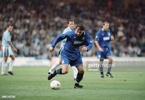 English Premier League match at Maine Road Manchester City 0 v Everton 2 Andrei Kanchelskis of Everton on the ball 30th August 1995