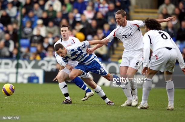 English Premier League match at the Madejski Stadium Reading 0 v Bolton Wanderers 2 Reading slipped to a sixth successive defeat as Bolton picked up...