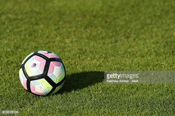 English Premier League Nike Ordem Match Ball during a training session on October 18 2016 in West Bromwich England