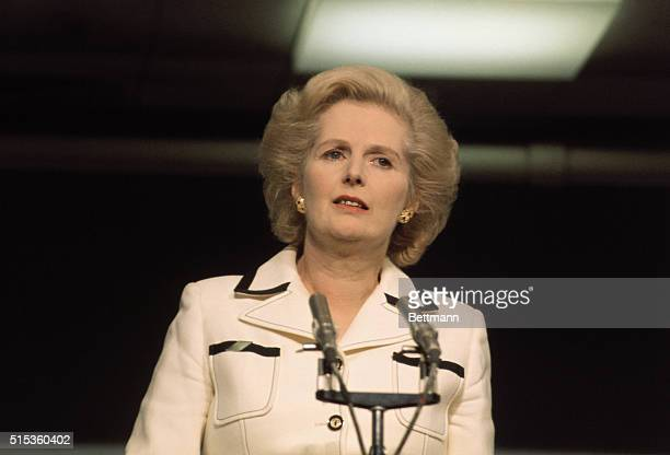 English Prime Minister Margaret Thatcher leader of Great Britain's Conservative Party Thatcher was the first female Prime Minister to be elected in...