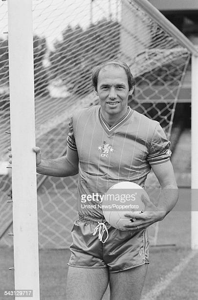 English professional footballer and centre forward for Chelsea FC Bryan Robson pictured at Stamford Bridge stadium in London on 18th August 1982
