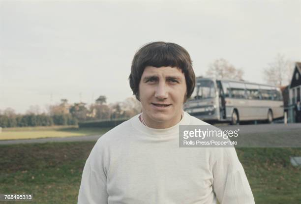 English professional footballer and defender with Derby County Football Club Roy McFarland pictured attending a training session with the England...