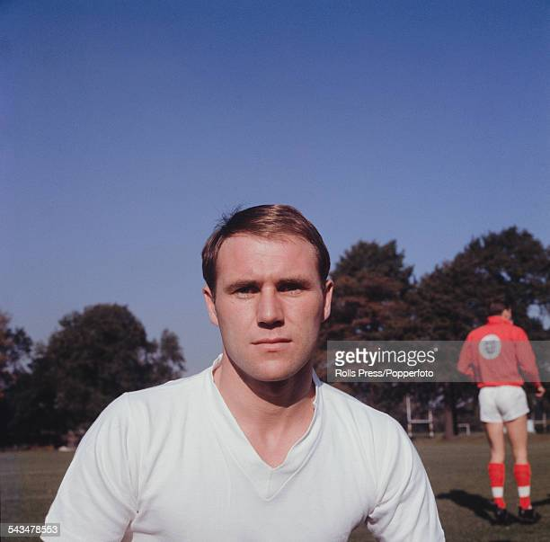 English professional footballer and defender with Huddersfield Town F.C., Ray Wilson pictured during a training session for the English national team...