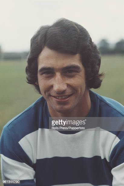 English professional footballer and defender with Queens Park Rangers FC Dave Clement posed on the pitch at the club's training ground in London...
