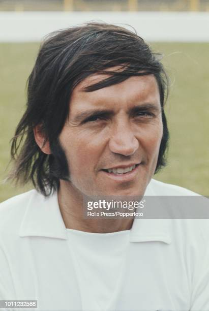 English professional footballer and forward with Millwall FC Barry Bridges posed on the pitch at The Den stadium in London in 1972