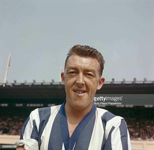 English professional footballer and forward with Sheffield Wednesday Roy Shiner pictured at Arsenal's Highbury stadium in London on 22nd August 1959