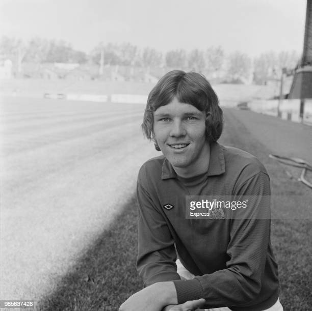 English professional footballer and goalkeeper with Bristol City FC, Len Bond posed on the pitch at Ashton Gate stadium in Bristol on 18th August...