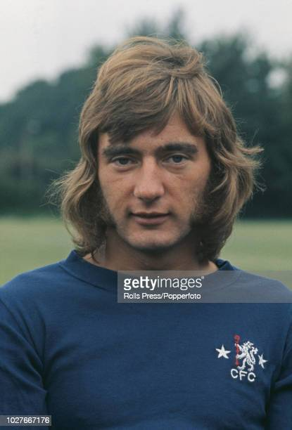 English professional footballer and midfielder with Chelsea Football Club Alan Hudson posed at Chelsea's training ground in August 1972 at the start...