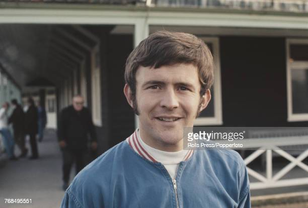 English professional footballer and midfielder with Chelsea Football Club John Hollins pictured attending a training session with the England...