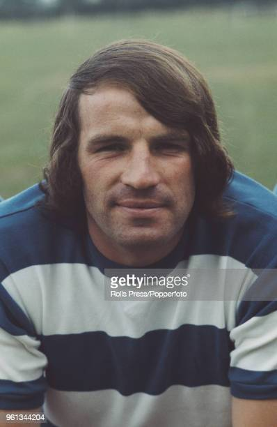 English professional footballer and player with Queens Park Rangers FC Mike Ferguson posed on the pitch at the club's training ground in London...