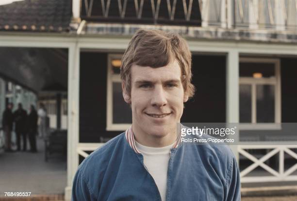 English professional footballer and striker with Everton Football Club Joe Royle pictured attending a training session with the England national team...