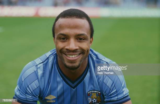 English professional footballer Cyrille Regis pictured on his debut for Coventry City against Newcastle United in Division One at Highfield Road...