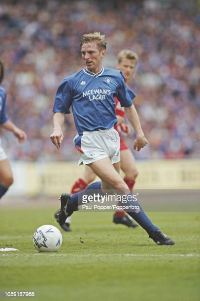 English professional footballer Gary Stevens defender with Rangers FC pictured in action for Rangers in a match against Aberdeen during competition...