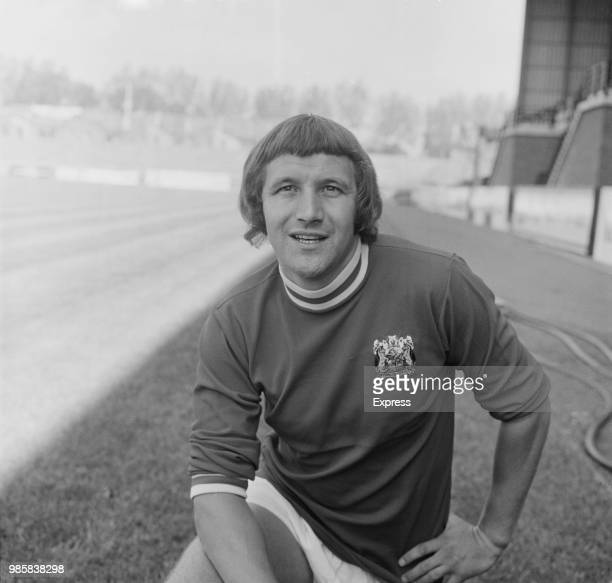 English professional footballer Les Wilson of Bristol City FC, posed on the pitch at Ashton Gate stadium in Bristol on 18th August 1972.