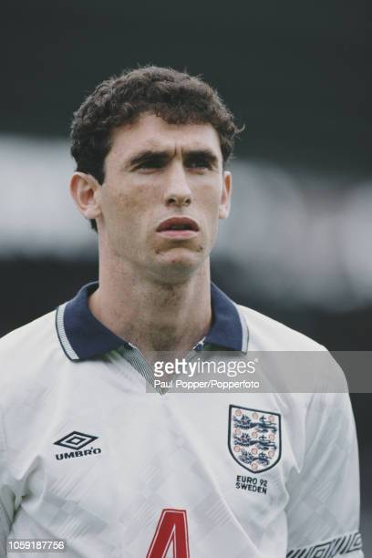English professional footballer Martin Keown defender with Everton posed prior to playing for the England national team against France in Group 1 of...