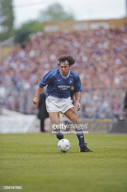 English professional footballer Terry Hurlock midfielder with Rangers FC pictured in action for Rangers during competition in the 199091 Scottish...