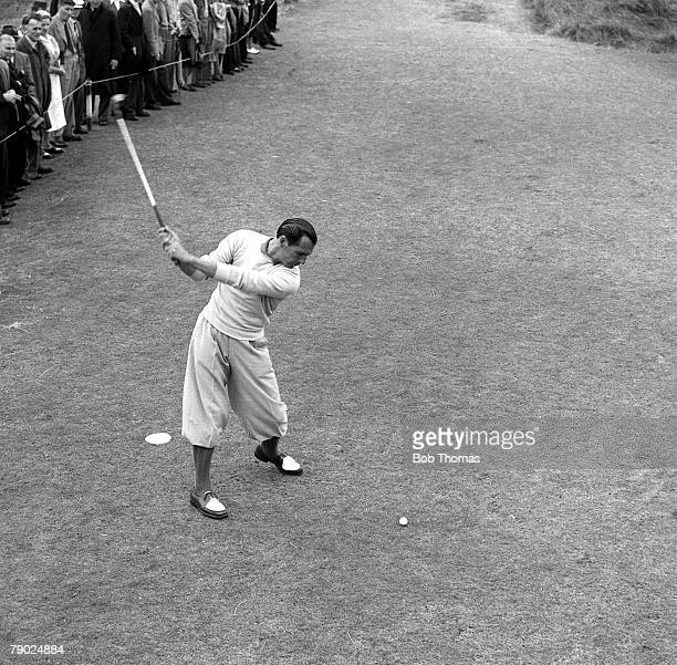 Golf 1951 British Open Championship at Portrush A picture of Max Faulkner of Great Britain playing a shot