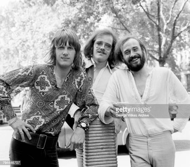 English progressive rock band, The Nice, August 1969. Left to right: keyboard player Keith Emerson , bassist Lee Jackson and drummer Brian Davison .