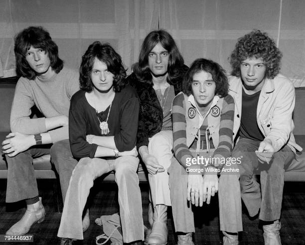 English progressive rock band Yes August 1969 Left to right bassist Chris Squire singer Jon Anderson keyboard player Tony Kaye guitarist Peter Banks...
