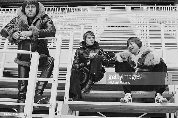 English progressive rock group Emerson, Lake and Palmer, during rehearsals for the band's 'Works' tour, at the Olympic Stadium, Montreal, Canada,...