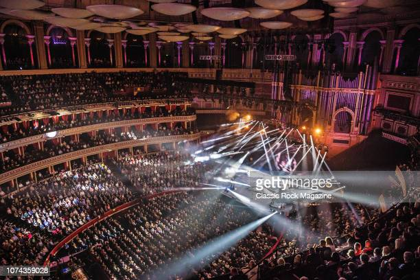 English progressive rock group Marillion performing live on stage at the Royal Albert Hall in London England on October 13 2017