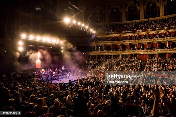 English progressive rock group Marillion performing live on stage at the Royal Albert Hall in London, on November 18, 2019.