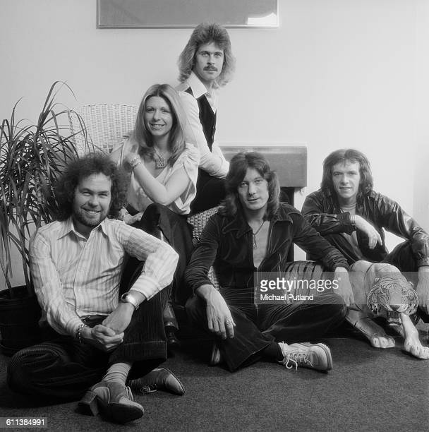 English progressive rock group Renaissance USA March 1978 Left to right guitarist Michael Dunford singer Annie Haslam bassist Jon Camp keyboard...