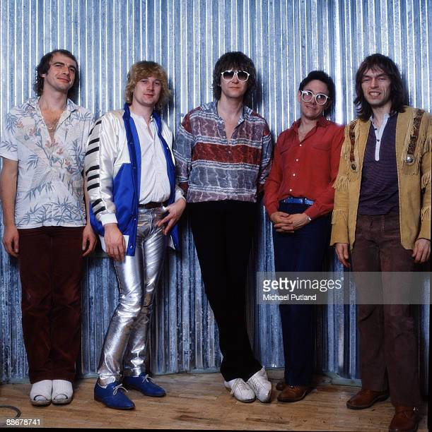 English progressive rock group Yes August 1980 Left to right drummer Alan White keyboard player Geoff Downes bassist Chris Squire singer Trevor Horn...