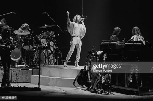 English progressive rock group Yes performing at Madison Square Garden New York City September 1978 The band played four nights at the venue from...