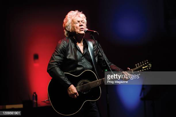 English progressive rock musician John Lodge performing live on stage at Cadogan Hall in London on April 13 2019