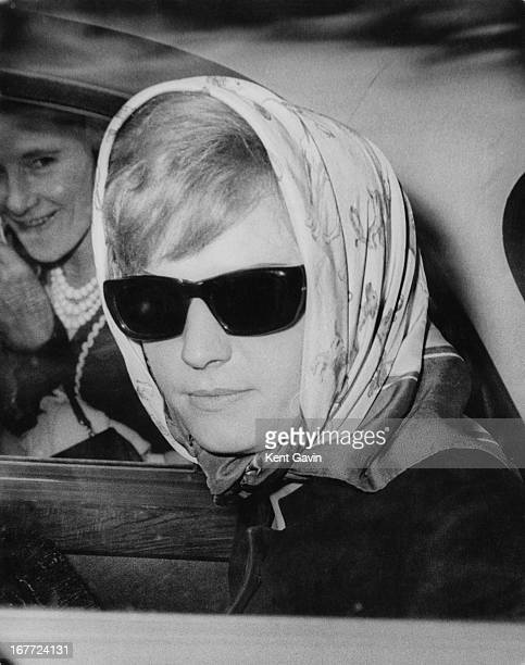 English prostitute Vickie Barrett outside the Old Bailey on the second day of the trial of society osteopath Stephen Ward London 23rd July 1963...