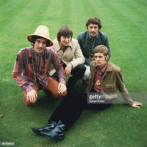 English psychedelic pop group The Flower Pot Men 1967 Left to right Neil Landon Robin Shaw Tony Burrows and Pete Nelson