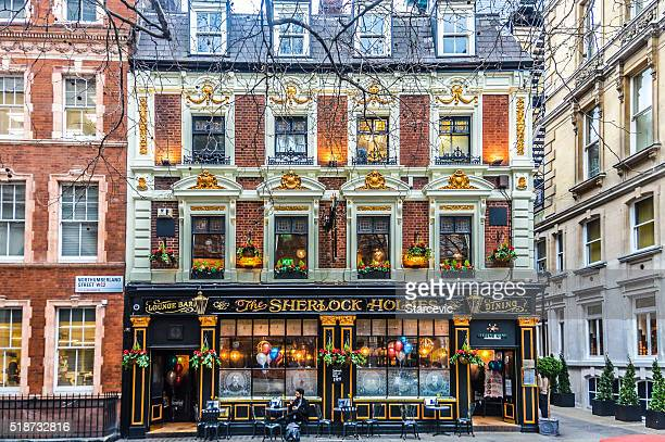 english pub in london - sherlock holmes stock pictures, royalty-free photos & images