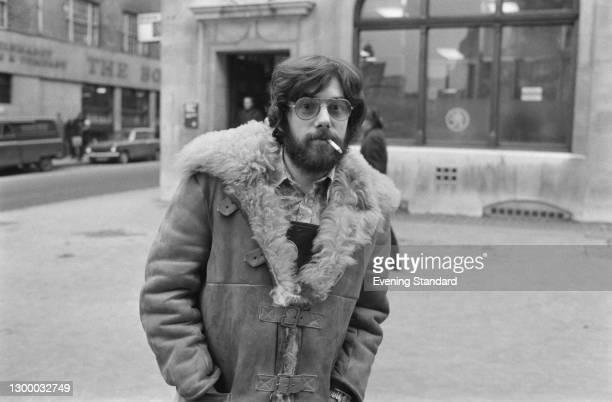 English publisher Felix Dennis , co-editor of counterculture magazine 'OZ', UK, 7th February 1972.