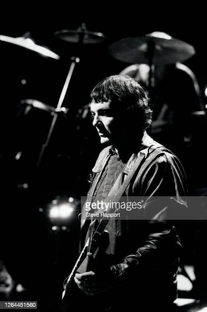 English Punk and Rock musician Dave Greenfield , of the group the Stranglers, filming the 'Always The Sun' music video, London, 8/14/1986.