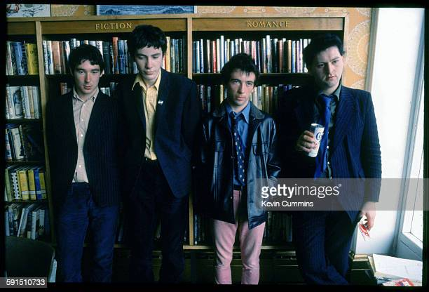 English punk group Buzzcocks 1977 Left to right guitarist Steve Diggle drummer John Maher singer Pete Shelley and bassist Garth Smith