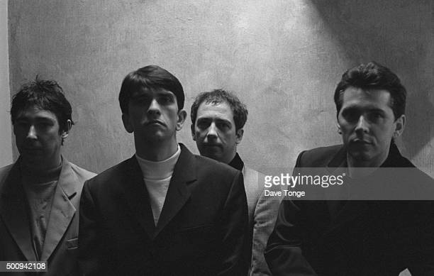 English punk group Buzzcocks London United Kingdom June 1991 Left to right Steve Diggle Mike Joyce Pete Shelley and Steve Garvey