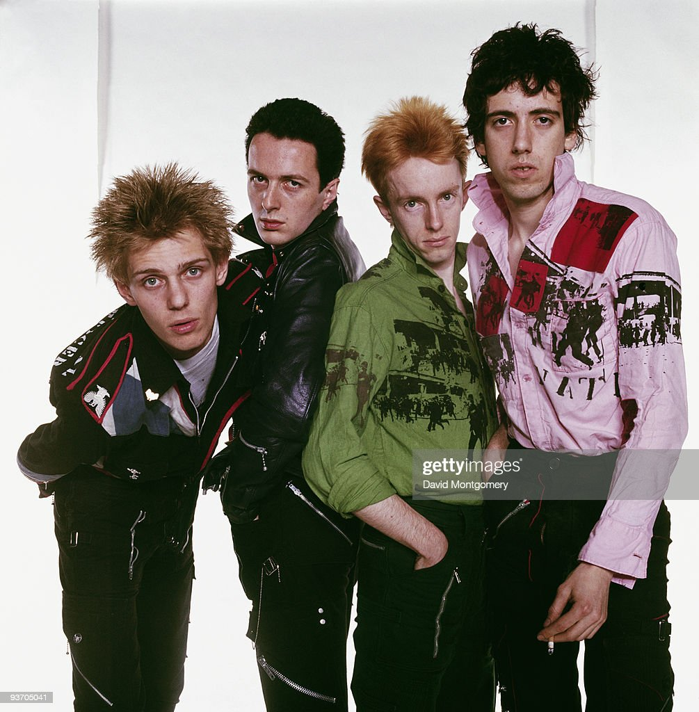 English punk group The Clash, circa 1977. Left to right: bassist Paul Simenon, singer Joe Strummer (1952 - 2002), drummer Topper Headon and guitarist Mick Jones.