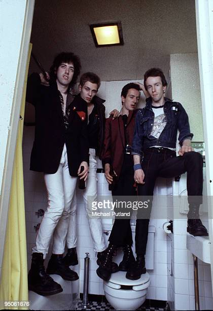 English punk group The Clash, New York, 1978. Left to right: guitarist Mick Jones, bassist Paul Simonon, singer Joe Strummer and drummer Topper...